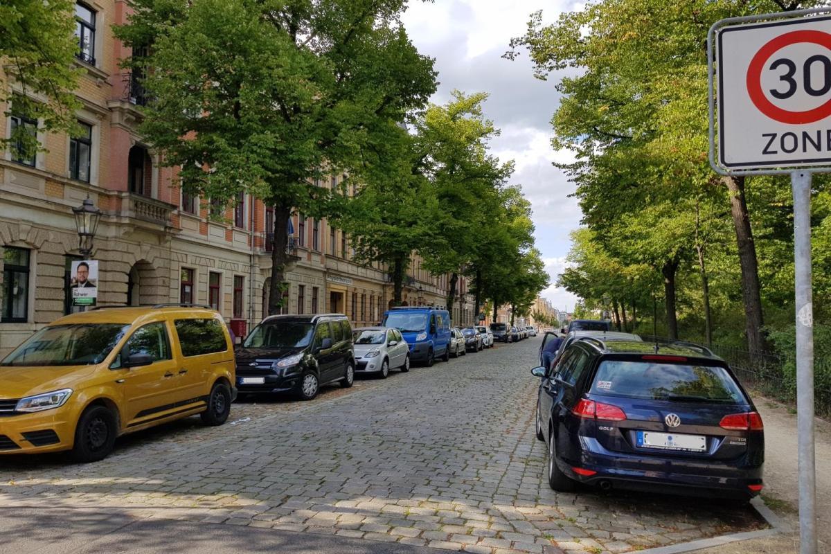 Straßenbild in Löbtau
